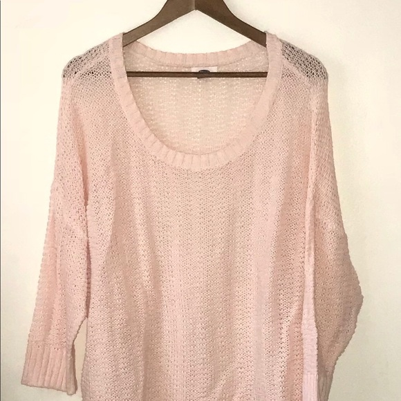 Old Navy Sweaters - Old Navy Plus Pink Cropped Sweater